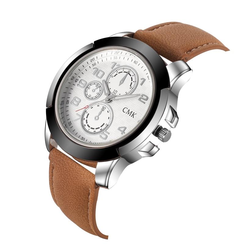 28b46380f2a 2018 Marca de Moda de esportes casuais relógio pulseira de couro relógios  de pulso de alta