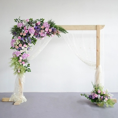 Lilac roses with green grass Wedding Flower Wall roses with hydrangea Artifical Silk Flower Backdrop Wedding Decoration