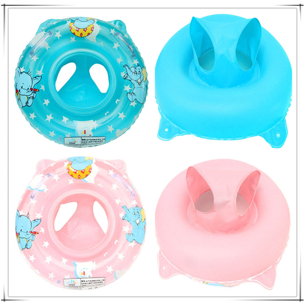 Baby Kids Summer Swimming Ring Double Handle Safety Baby Seat Float Swim Ring Inflatable Infant Water Toys Swim Circle