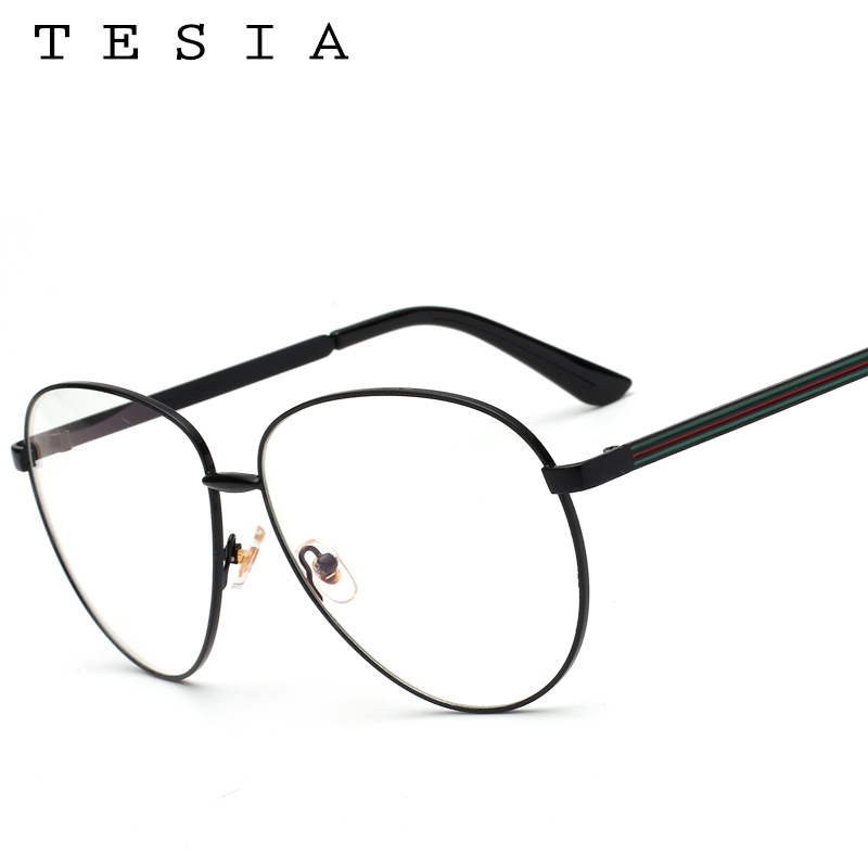60db39abf3 TESIA Aviator Women Glasses Frame Brand Designer Men Eyeglasses Frame  Eyewear Clear Lens For Optical Glasses Myopia Frames T962-in Eyewear Frames  from ...