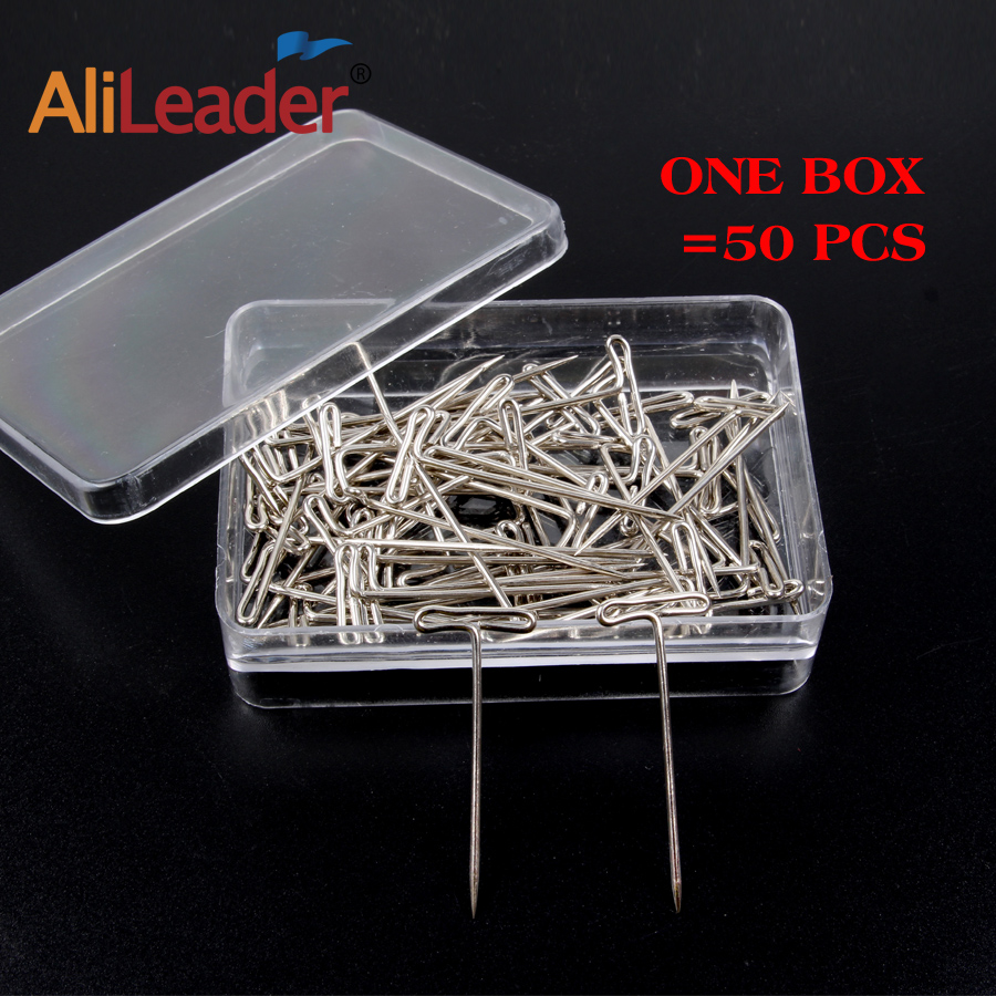 Alileader  50pcs T Pin  14mm*38mm for Wig Fix on Canvas Head Wig Toupee Making Tools Modelling, Postiing Memos DIY ToolsAlileader  50pcs T Pin  14mm*38mm for Wig Fix on Canvas Head Wig Toupee Making Tools Modelling, Postiing Memos DIY Tools