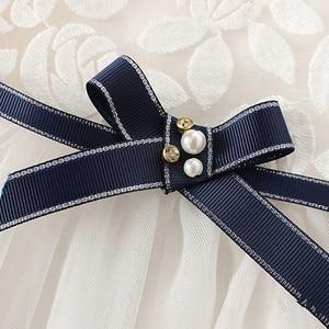 Image 4 - Neugeborene Mädchen Prinzessin Baby Kleid Kinder Hochzeit Festzug Spitze Baumwolle Kleider Ballkleid 0 2Y weiß