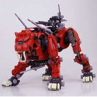 BT Model Building Kits: ZOIDS EZ 016 Red Saber Tiger 1:72 Scale Full Action Plastic Kit Assemble Model Birthday Christmas Gifts