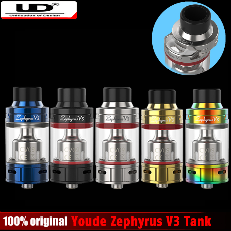 Original UD Youde Zephyrus V3 Tank with OCC Coil Or DIY RBA Coil Head Electronic Cigarette Atomizer Vape VS Smok TFV8 Baby Tank e cigarette atomizer diy coil tool kit
