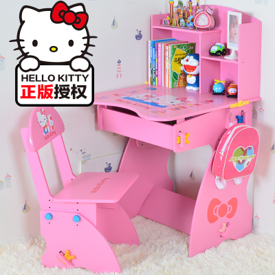 Children's desk study desk and chair suit can lift, elementary school students writing desk and chair bookshelf suit desk english unlimited elementary self study pack dvd rom