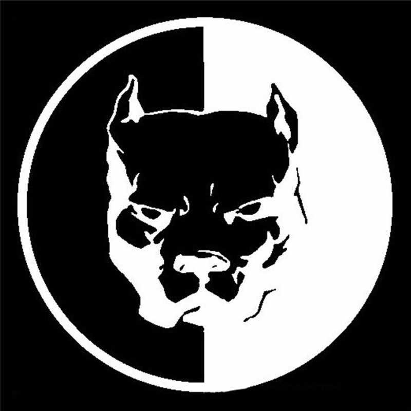 Decalcomanie auto pitbull super hero cane parete del vinile della decalcomania della finestra di automobile bumper