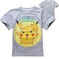 3-10 лет Мальчики футболки Детская Одежда 2016 Летняя Мода детские Футболки Детская Одежда Мальчиков Pokemon Go Baby Boy T рубашка