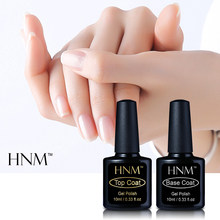 HNM 10ml 2 pz/lotto di Base prodotti per superficie e smalti Gel Polish Primer, Base trucco Finalmente Gel Nail Polish Semi Permanente Gelpolish Shilak Chiaro finitura Gel(China)