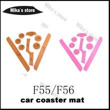 1 компл. ПУ coaster коврики Стикеры автомобиль-Стайлинг f55 F56 для Mini Cooper автомобиль Кубок Coaster коврики бульдог и мини наклейки для автомобиля