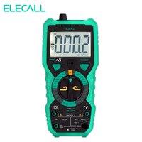 Elecall MK72 Ile Yüksek Hassasiyetli True RMS Dijital Multimetre El Multimetre Sıcaklık Kapasite LCD Arka İNGILTERE