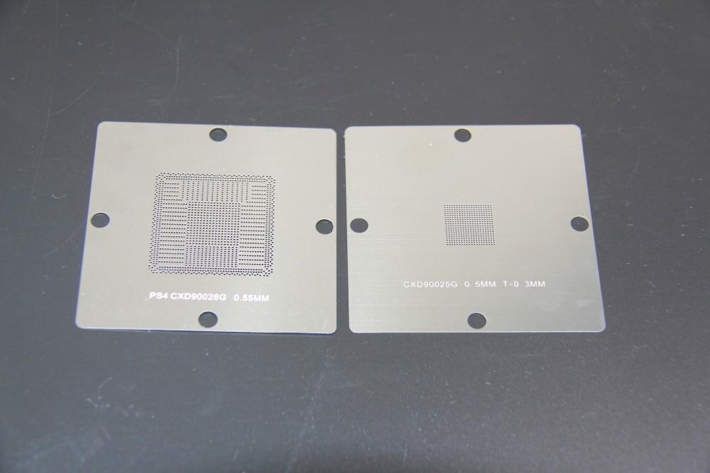 Tasuta saatmine! Uustulnukas! BGA Reballing Trafarett 90x 90mm 80 * 80mm PS4 Trafarett CXD90026G CXD90025G 0,55mm 10PCS / SET