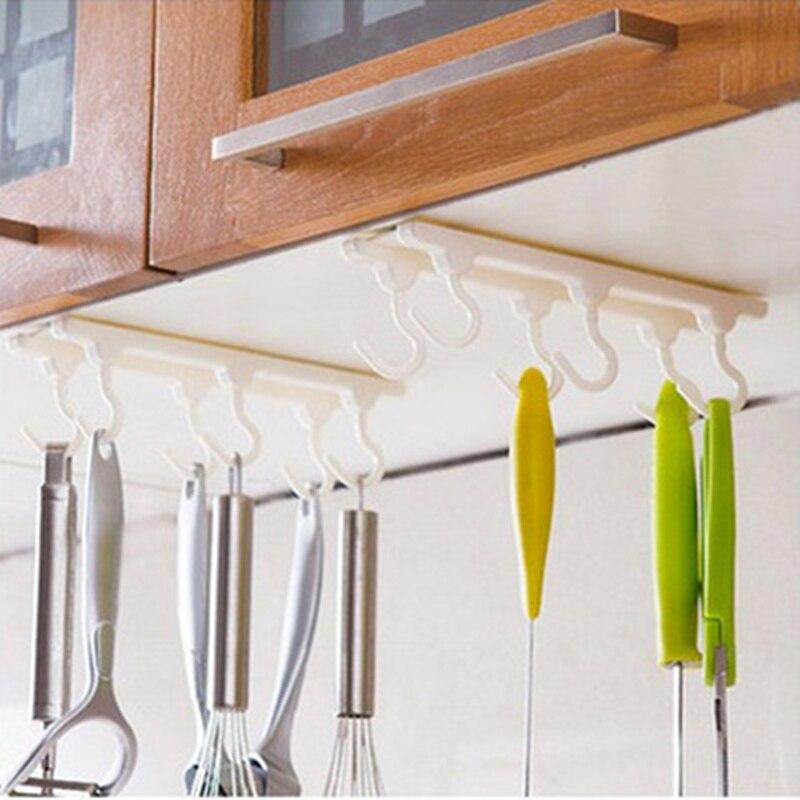 Gabinetes De Cocina práctico Escritorio Armarios de techo gancho con 6 ganchos C