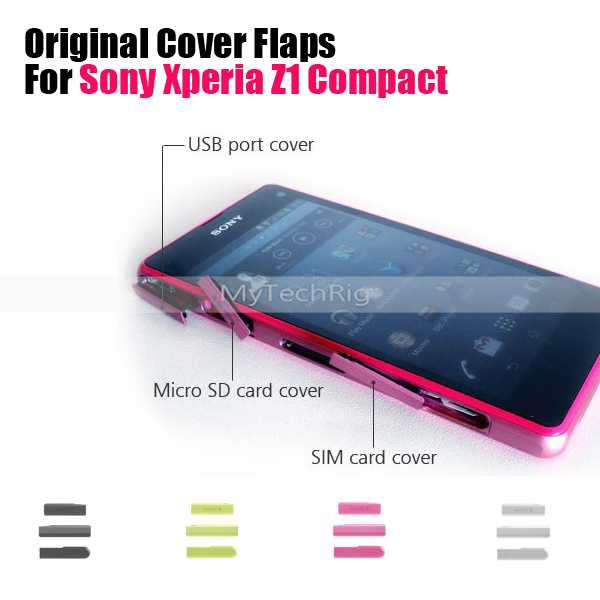 Original Usb Charging Port Cover Flap For Sony Xperia Z1