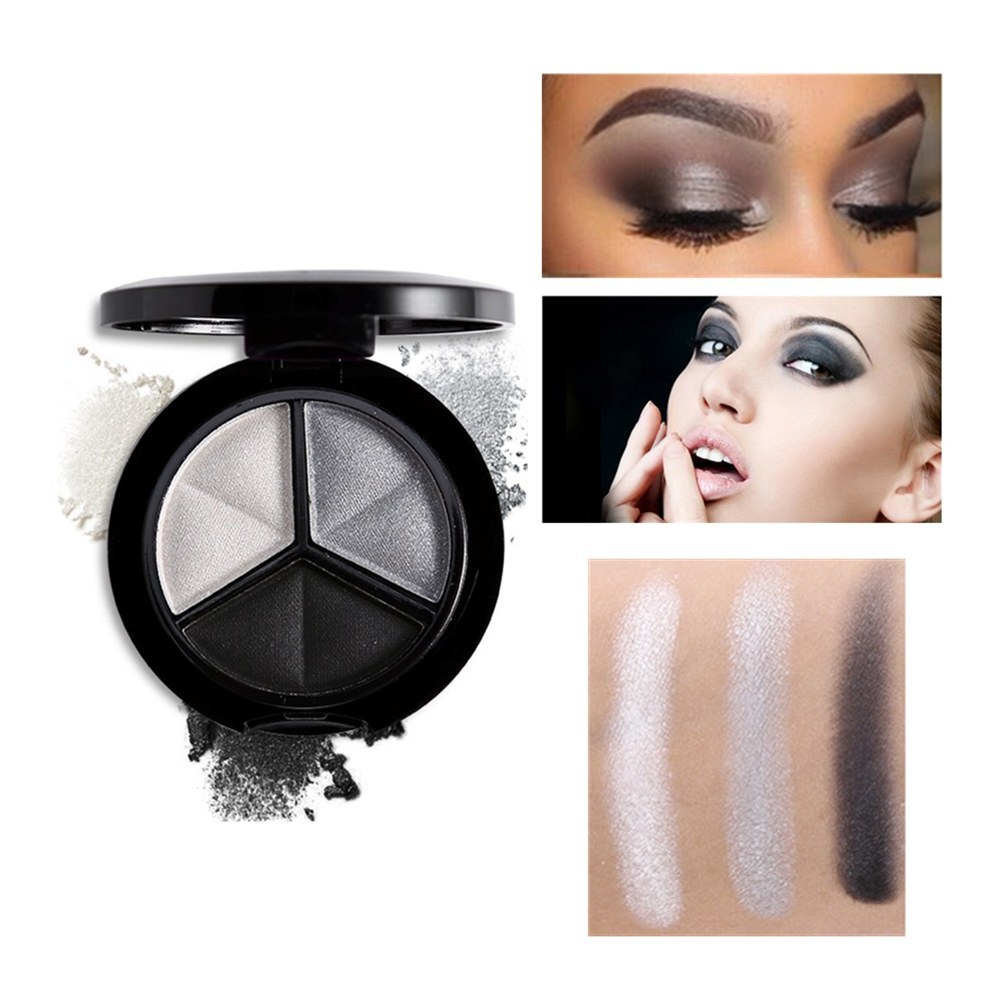 3 Colors Eyeshadow Palette Makeup Cosmetics Set Matte Waterproof Glitter Eye Shadow Professional Make Up Palette Shimmer Eyes