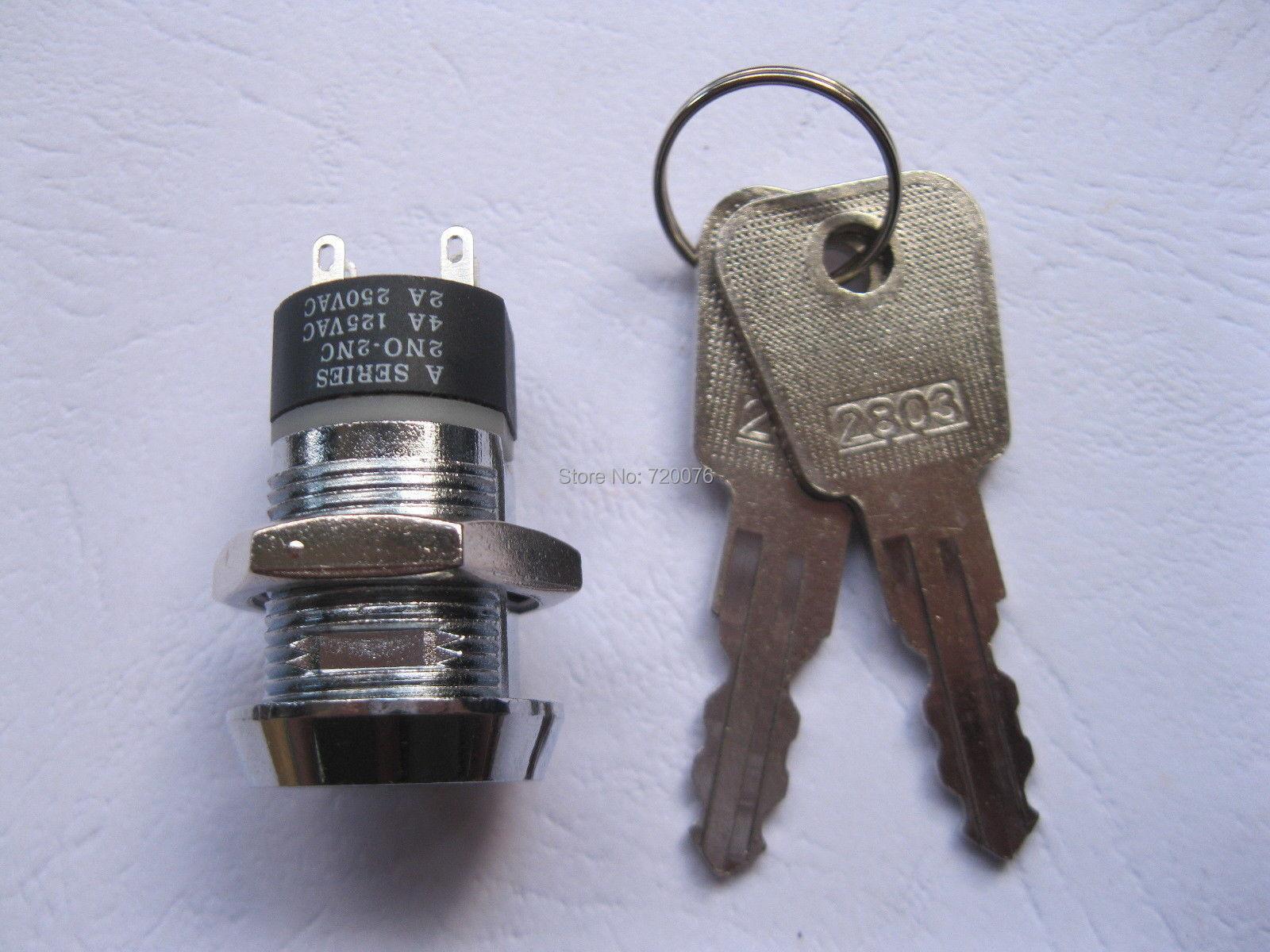 6 pcs Commutateur D'allumage Touche ON/OFF Verrouillage Interrupteur K28 2NO-2NC