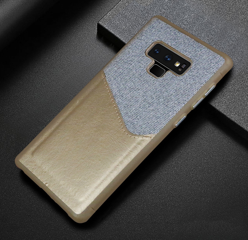 Luxury Business Cloth+leather Wallet Case for samsung note 9 8 with Card Pocket Cover for samsung galaxy S8 S9 Plus case Coque   (13)