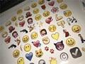 Encantador lindo 48 die emoji emoji sonríen pegatina populares pegatina para iphone twitter instagram de alta vinilo 48 calcomanías por hoja