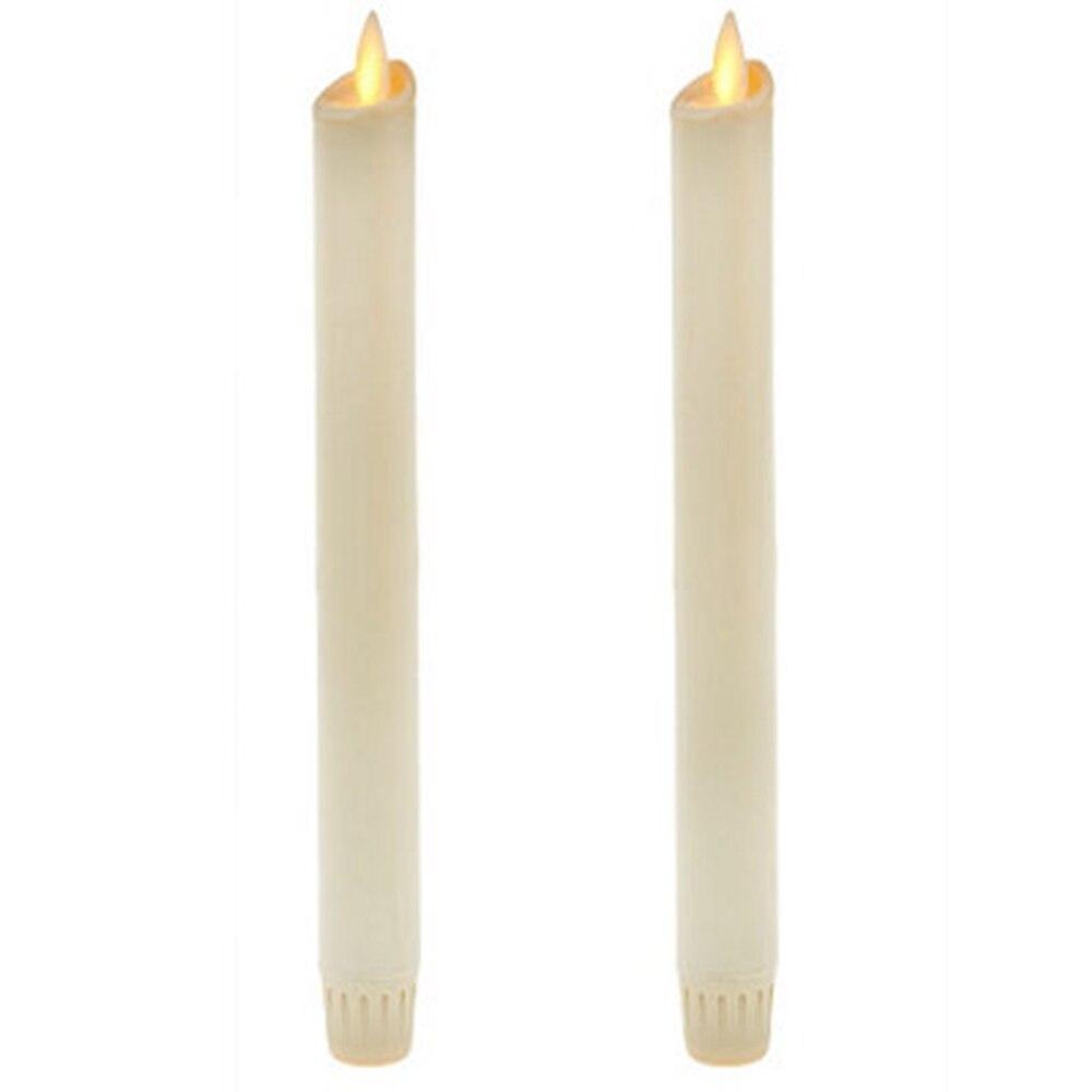Ksperway Flammenlose Bewegen Docht FÜHRTE Kegel Kerzen Echt Wachs mit Timer und Fernbedienung für Home Dekoration Set von 2