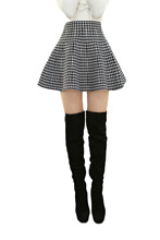 Hot Selling Cute High Waist Tartan Skirt One Size Fit All Short Mini Skirt 3 Color Available Free Shipping
