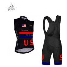2017 Eyessee summer breathable sleeveless bicycle clothing Ropa Ciclismo United States Sleeveless cycling clothing