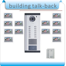 """So easy! DIY 7 """" TFT color LCD display visual building talk-back+RFID access control system /for 2 room, 10 pcs cards"""