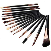 15pcs Set Beauty Eye Make Up Brush Set Eyeliner Eyebrow Lip Brush Eye Shadow Foundation Makeup
