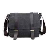 New Men Canvas Handbags Vintage Crossbody Shoulder Bags Casual Big Capacity Men Messenger Bags Belt 13