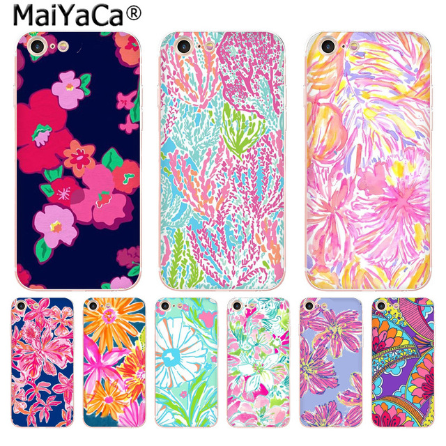 7fa1296205ce3 US $2.09 |MaiYaCa Lilly Pulitzer Summer flower Pink Fun Dynamic phone case  for Apple iPhone 8 7 6 6S Plus X 5 5S SE XS XR XS MAX Cover-in Half-wrapped  ...