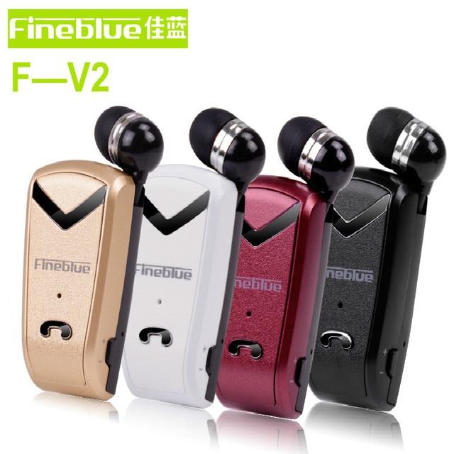 Nova Fineblue F-V2 Auriculares Fone de Ouvido Sem Fio Mini fone de Ouvido Bluetooth Esporte Motorista Clip Telescópica Fone De Ouvido Manos Libres