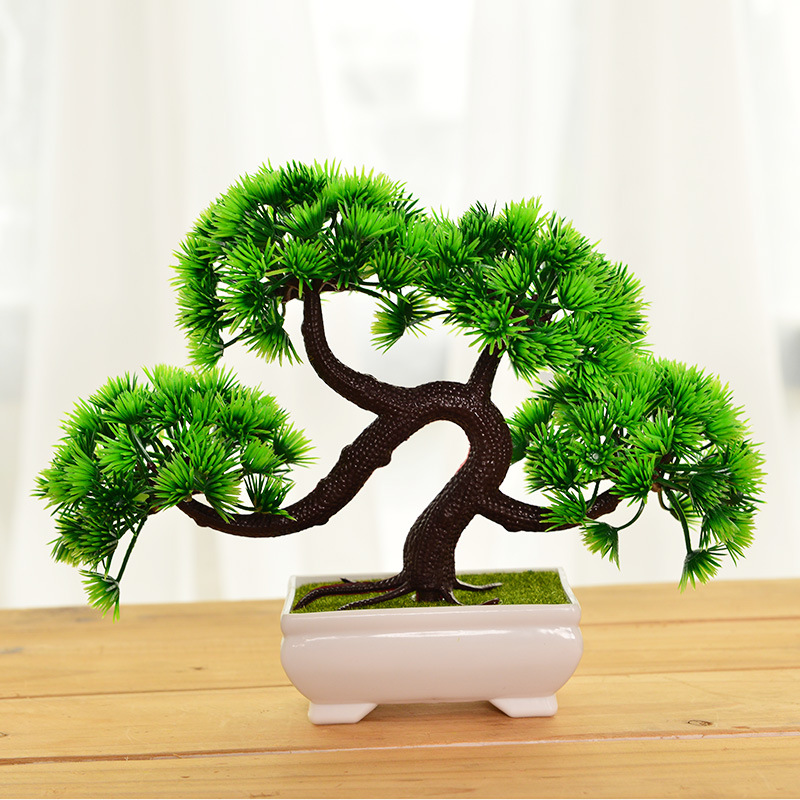 New Artificial Plants Bonsai Small Tree Pot Plants Fake Pine Tree For Home & Garden DecorationNew Artificial Plants Bonsai Small Tree Pot Plants Fake Pine Tree For Home & Garden Decoration