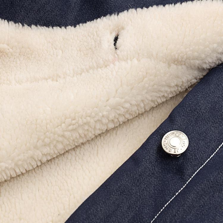 Femmes Marque Épais Nouvelle Coton Printemps En De 2019 Européenne Agneau Long Peluche Laine Denim Américaine Manteau Et Veste Jacket w0E05qAOx