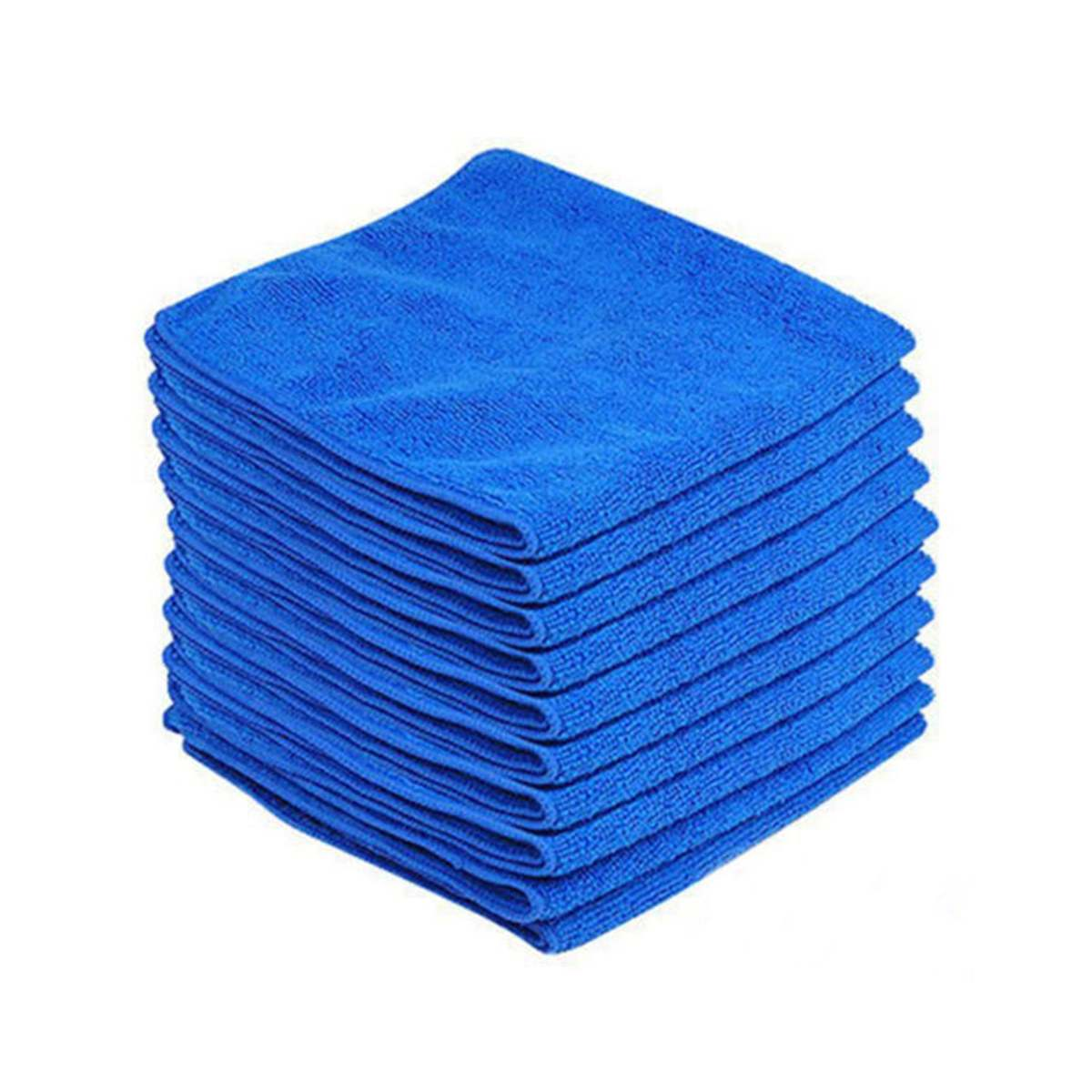 5//10x Soft Auto Car Microfiber Wash Cloth Cleaning Towels Hair Drying Duster HI