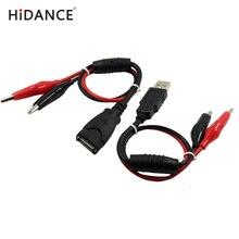 USB clipes Jacaré Crocodilo fio Masculino/feminino para USB tester capacidade Detector medidor de Tensão DC amperímetro medidor de energia do monitor, etc
