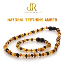 DR Genuine Baltic Amber Teething Necklace Bracelet for babies Certified Authenticity Natural Amber Beads Jewelry Sets for Baby