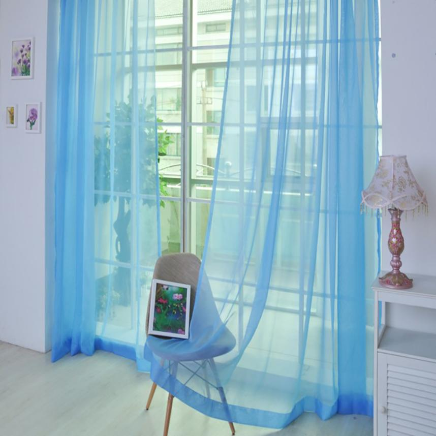 1 PCS Modern Exquisite Soft and Comfortable Pure Color Tulle Door Window Curtain Drape Panel Sheer Scarf Valances 270* 100cm m30|Blinds, Shades & Shutters|   - AliExpress