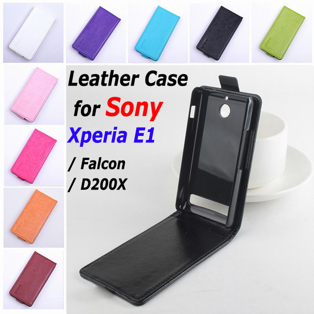 new styles 5ab1a 7d8e1 US $7.09 29% OFF|9 Colors High Quality Leather Case For Sony Xperia E1 /  Falcon / D200X Flip Cover Case For E 1 XperiaE1 Phone Cases-in Flip Cases  ...
