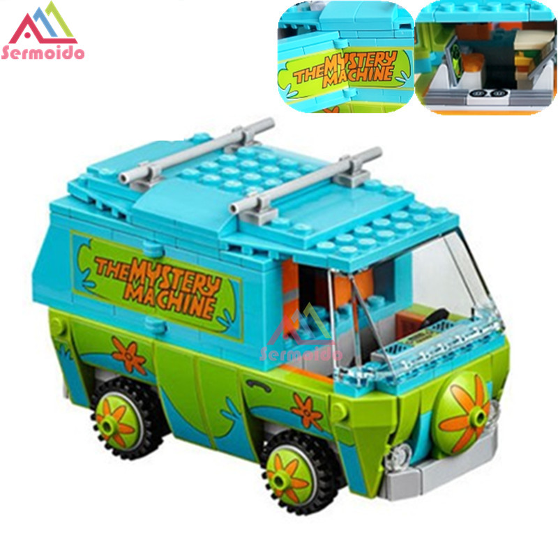 SERMOIDO 305 Pcs Building Blocks Scooby Doo The Mystery Machine 75902 Model Compatible Figure Toy For Children B46 ynynoo 305pcs 10430 the mystery machine scooby doo fred shaggy zombie zeke toys building blocks christmas gift sa562