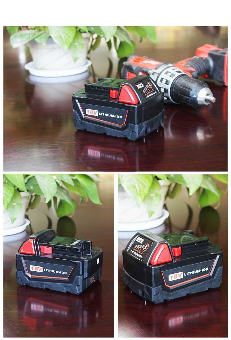 6000mAh 18V Li-Ion Replacement Battery for Milwaukee M18 XC 48-11-1815 M18B2 M18B4 M18BX M18BX (1 Piece)