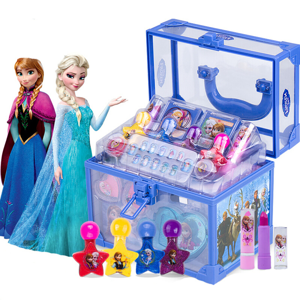 Disney Frozen girls toys for kids Makeup child birthday party gift games for girls toys child