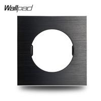 Wallpad L6 DIY 블랙 영국 EU 유니버설 닦 았 알루미늄 벽 스위치 소켓 금속 접시 무료 조합  86*86mm