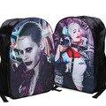 42*29*16 cm Comando Suicida Comics Harley Quinn Joker Mochila de Viaje Mochila de Impresión Accesorios de Disfraces Para Niños Schoolbag