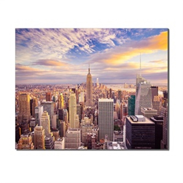 Canvas Painting City Buildings Sky Landscape Posters Artwork Pictures Printed for Living Room Bathroom Home Decoration No Frame