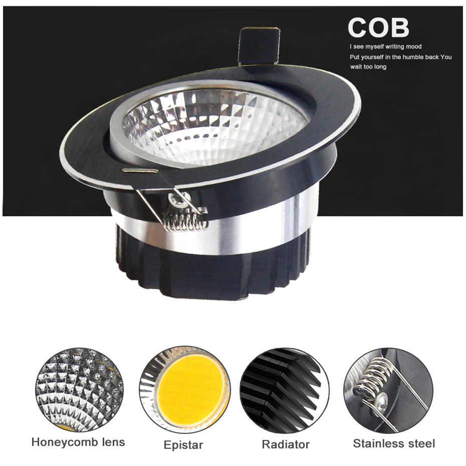 Сверхъяркий регулируемый светодиодный потолочный светильник 5 Вт 7 Вт 9 Вт 12 Вт Светодиодный Потолочный встраиваемый светильник черный Точечный светильник для внутреннего освещения
