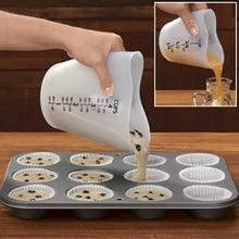 1 stücke Backen Küche 500 ML Silikon Messbecher Mit Doppel Waagen Rühren Gießen Cupcake Mehl Mess Becher DIY Kuchen werkzeuge