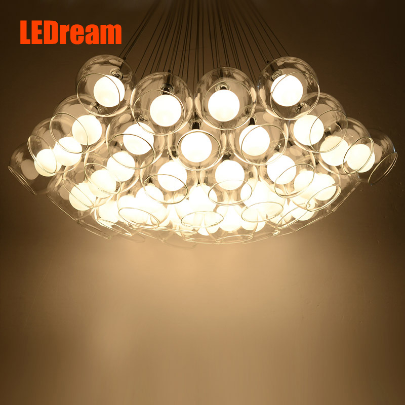 Modern Glass Chandelier for Dinning Room Personalized Living Room Bedroom Aisle Restaurant LED Bubble Ball Chandelier Lamps
