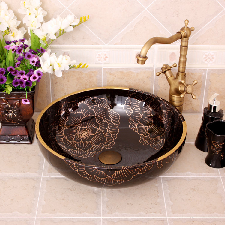 Attractive So Beautiful Jingdezhen Factory Directly Art Hand Painted Ceramic Kohler  Wash Basin