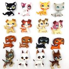 pet shop lps toys Редкие литл пет шоп игрушки лпс стоячки стоят кошка собака колли кокер-спаниель дог такса оригинальные маленькие короткие волосы kitty ребенка подарки