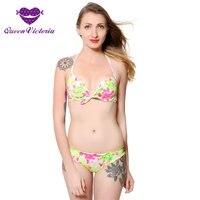 Hot Bohemia Bikini Set Girl S Sexy Printed Multi Colors Floral Swimsuit Beach Bathing Suit Halter