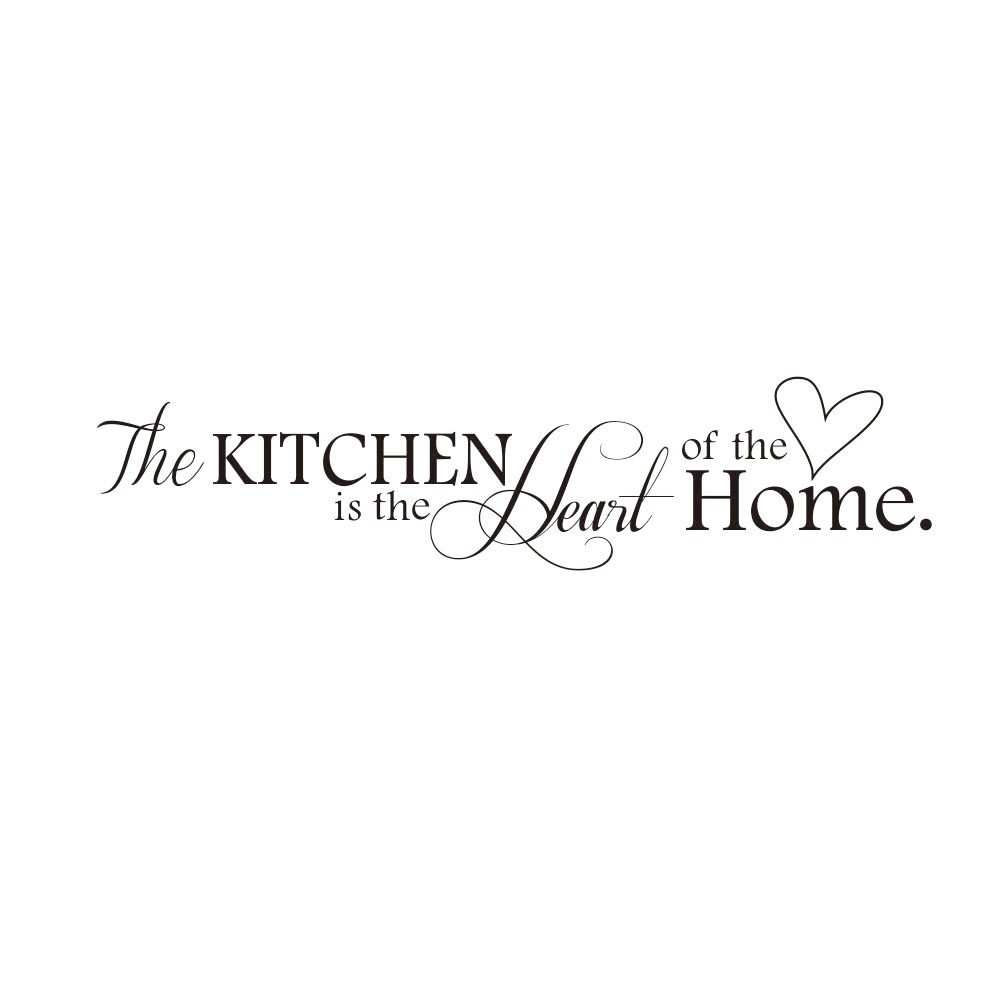 Hot Kitchen + Home Letter Heart Pattern Wall Sticker PVC Removable Wall Stickers Home Decor DIY Poster Stickers