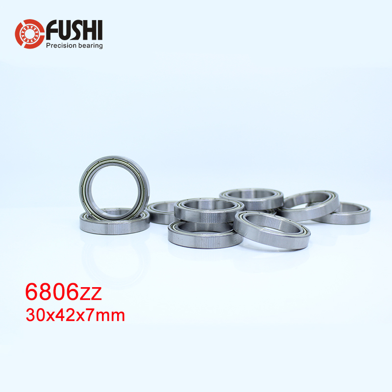 6806ZZ Bearing ABEC 1 (10PCS) 30x42x7 mm Thin Section 6806 ZZ Ball Bearings 61806 Z 6806Zbearing hondabearing picturesbearing shield -